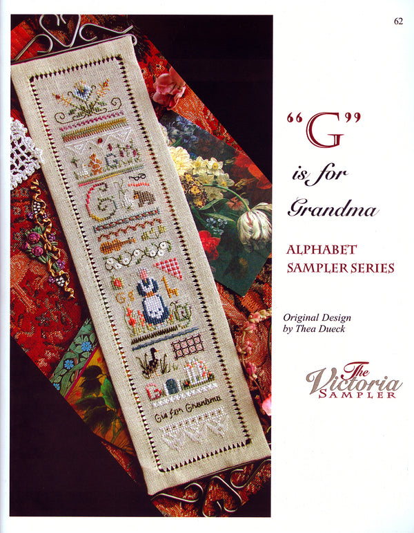 G is for Grandma Alphabet Sampler Leaflet