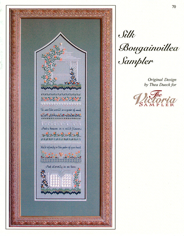 Silk Bougainvillea Sampler Leaflet - Part Four of the Gazebo Series