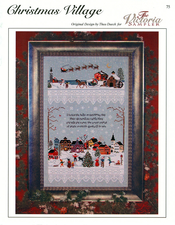 The Victoria Sampler - Christmas Village Sampler Leaflet  - needlework design company