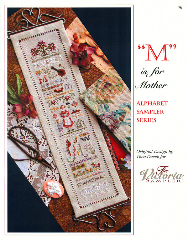 M is for Mother Alphabet Sampler Leaflet
