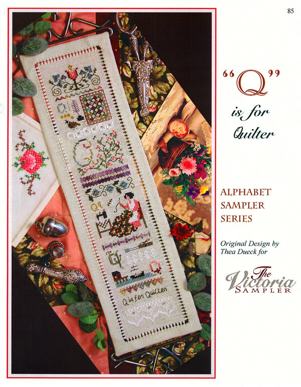 Q is for Quilter Alphabet Sampler Leaflet