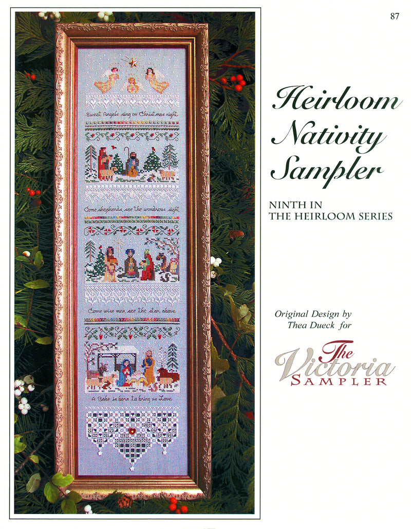 Heirloom Nativity Sampler Leaflet