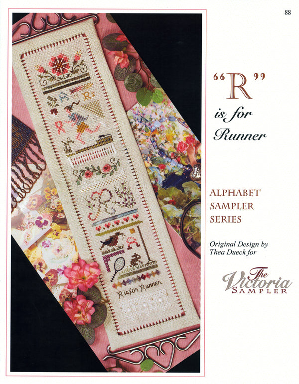R is for Runner Alphabet Sampler Leaflet