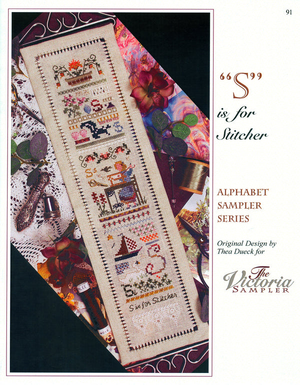 S is for Stitcher Alphabet Sampler Leaflet