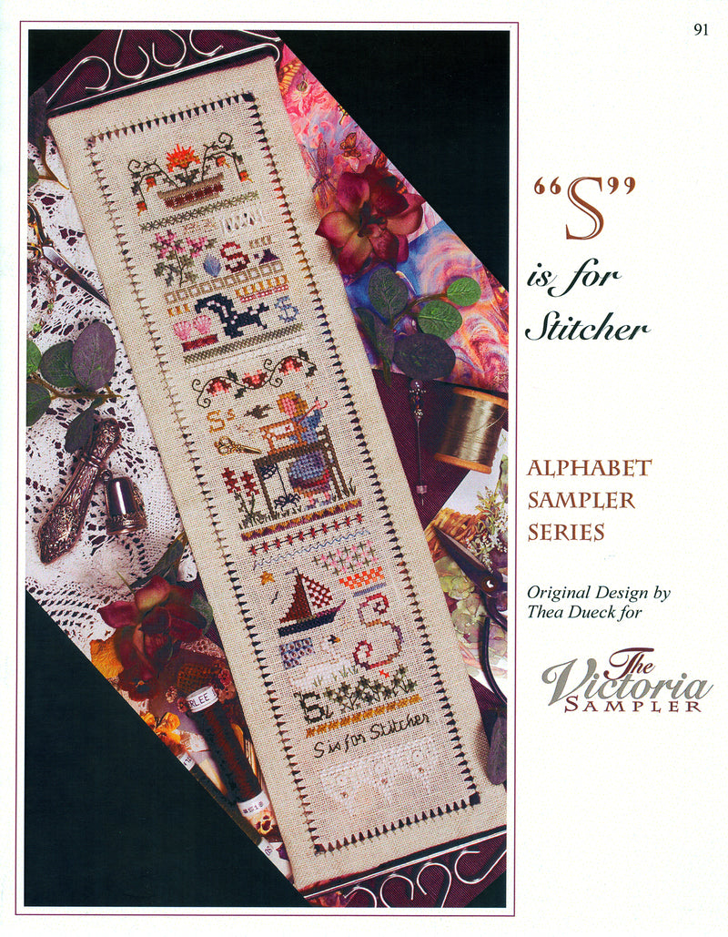 S is for Stitcher Alphabet Sampler Leaflet - Part 19 of 24