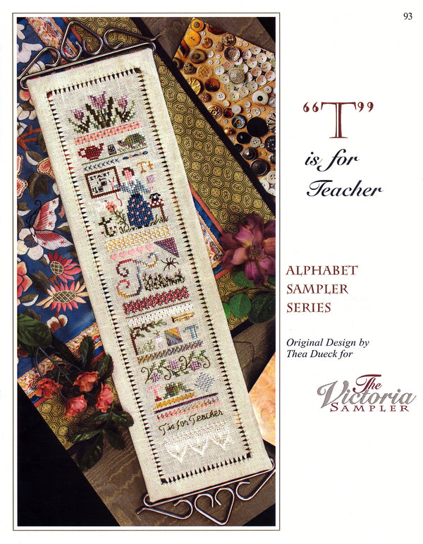 T is for Teacher Alphabet Sampler Leaflet