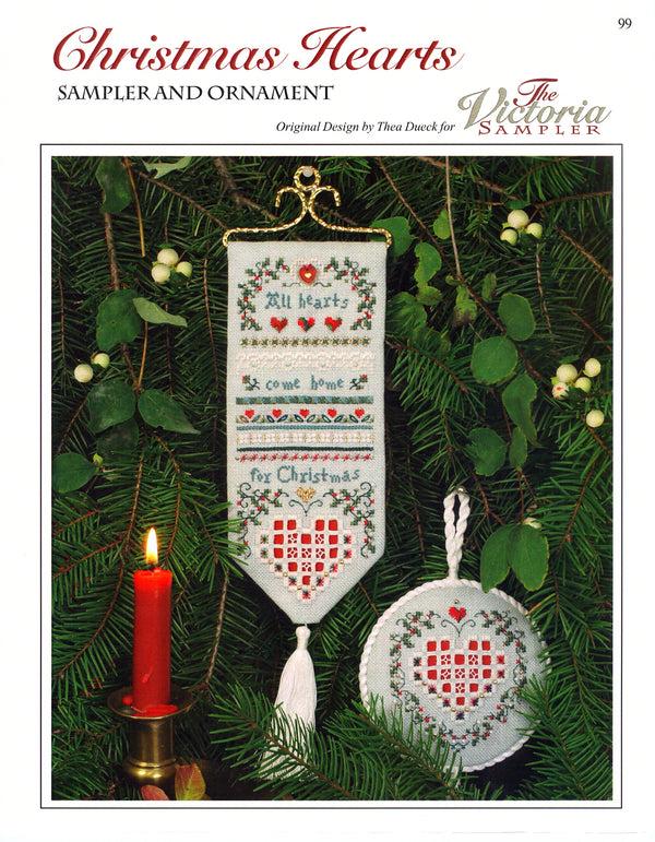 Christmas Hearts Sampler Leaflet