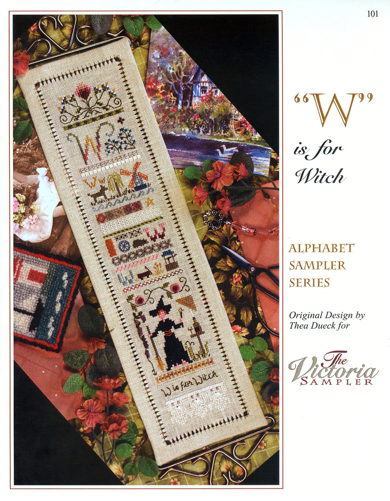 W is for Witch Alphabet Sampler Leaflet - Part 23 of 24