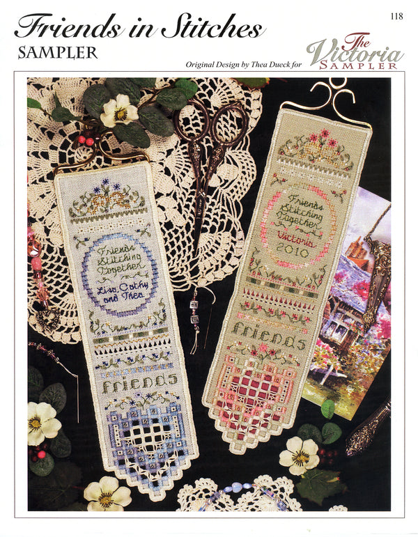 Friends in Stitches Sampler Leaflet