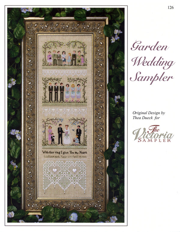 The Victoria Sampler - Garden Wedding Sampler Leaflet  - needlework design company