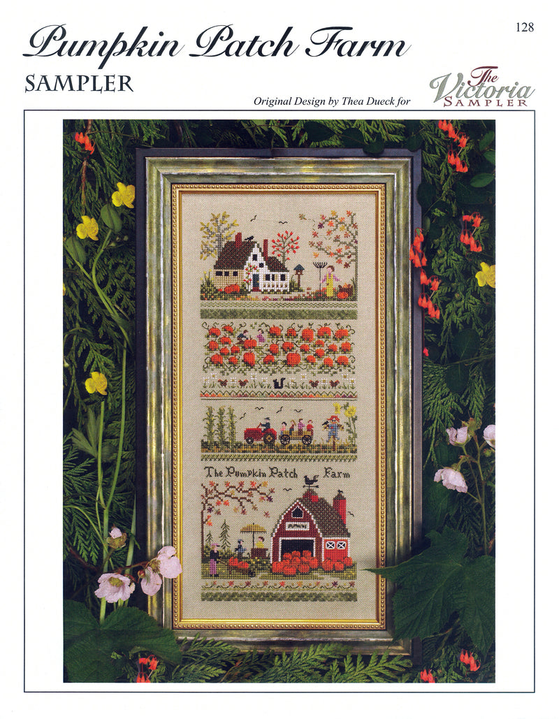 The Victoria Sampler - Pumpkin Patch Farm Sampler Leaflet  - needlework design company