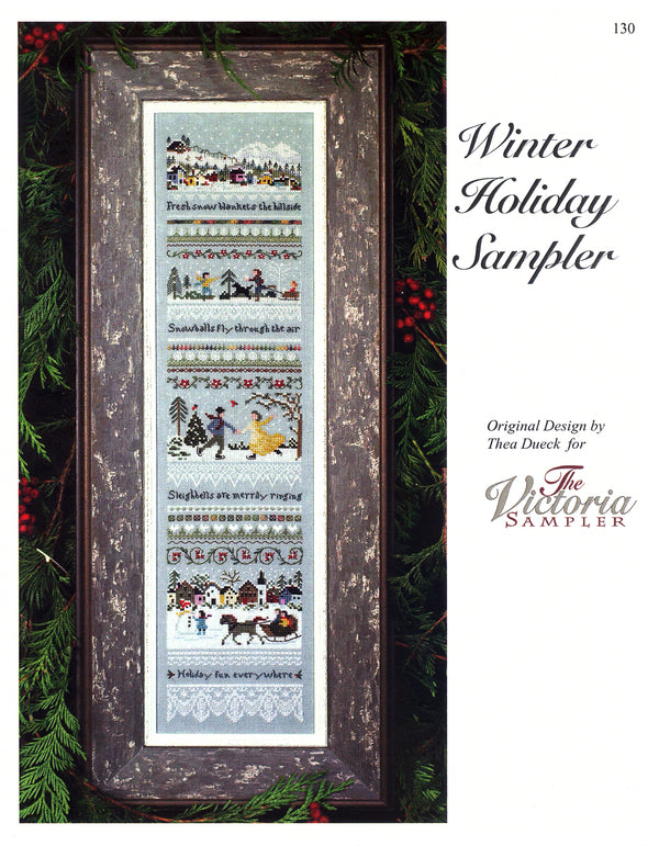 The Victoria Sampler - Winter Holiday Sampler Leaflet  - needlework design company
