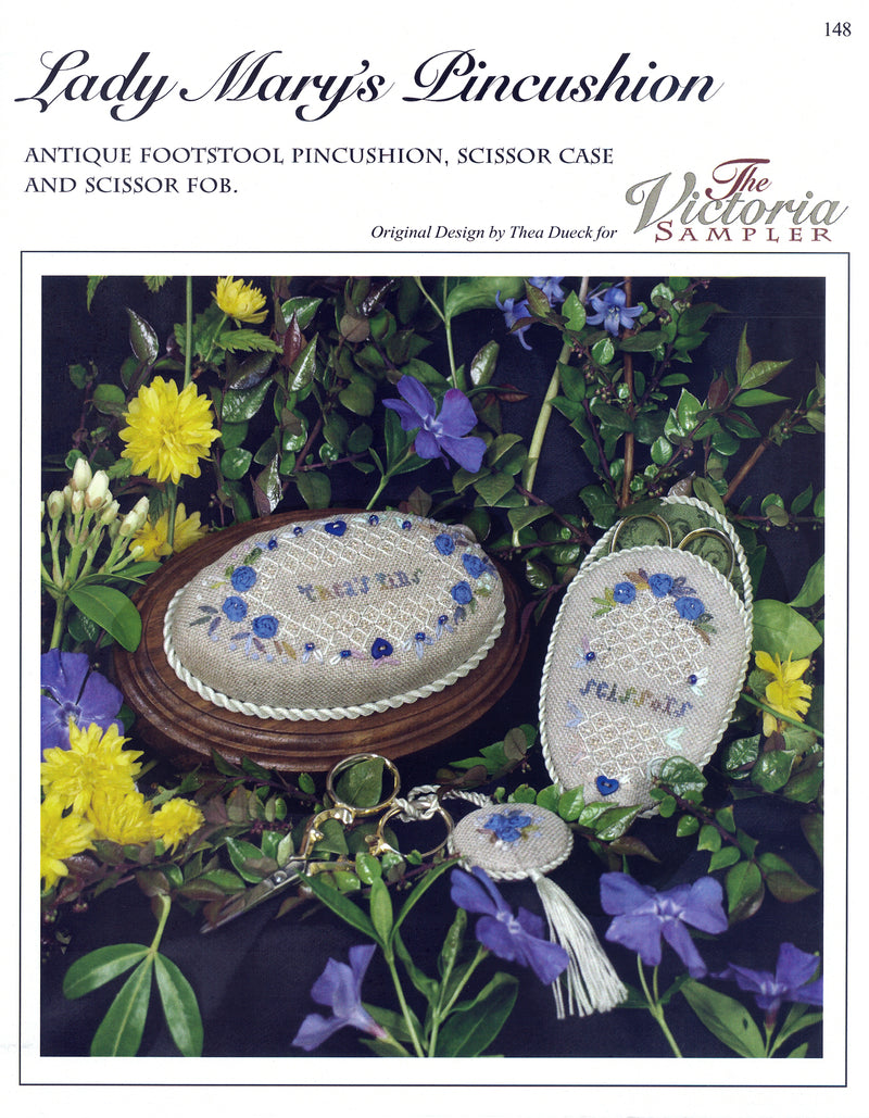 The Victoria Sampler - Lady Mary`s Pincushion Leaflet  - needlework design company