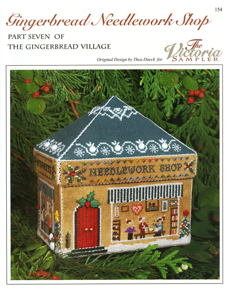 Gingerbread Needlework Shop Leaflet - Part 7 of Gingerbread Village