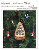 The Victoria Sampler - Gingerbread Scissors Keep Ornament Leaflet  - needlework design company