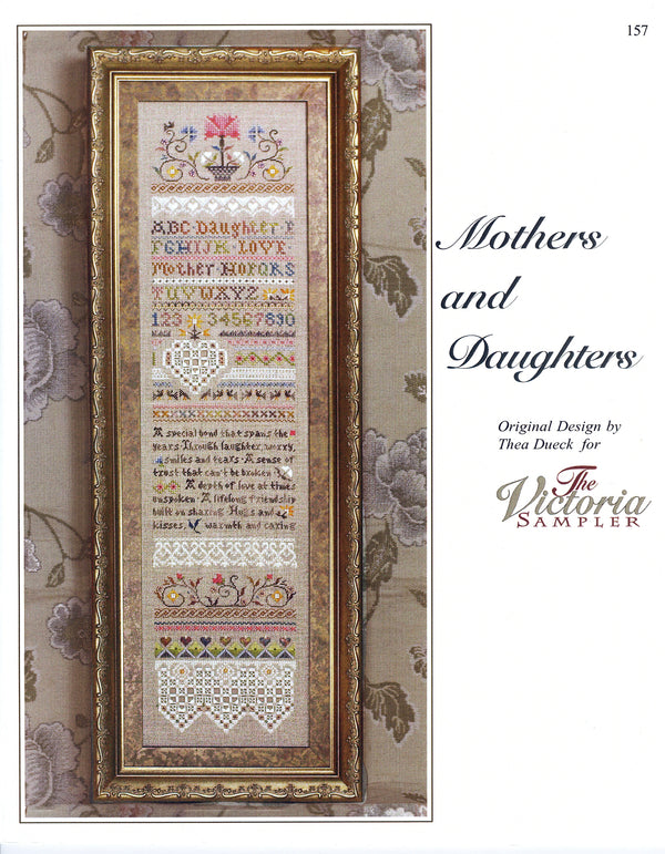 The Victoria Sampler - Mothers and Daughters Sampler Leaflet  - needlework design company