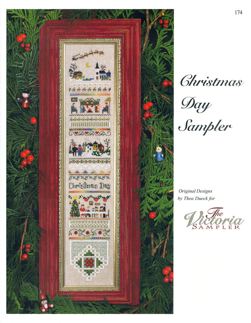 The Victoria Sampler - Christmas Day Sampler Leaflet  - needlework design company