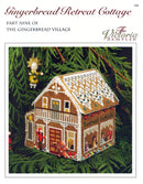 The Victoria Sampler - Gingerbread Retreat Cottage Leaflet - Part 9 of Gingerbread Village  - needlework design company