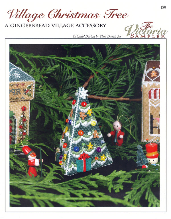 The Victoria Sampler - Gingerbread Village Christmas Tree Leaflet  - needlework design company