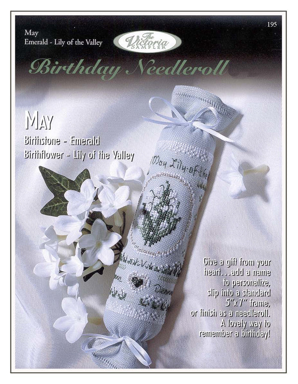 The Victoria Sampler - May Birthday Needleroll Sampler Leaflet  - needlework design company