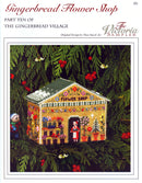 The Victoria Sampler - Gingerbread Flower Shop Leaflet - Part 10 of Gingerbread Village  - needlework design company
