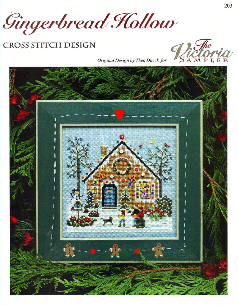 The Victoria Sampler - Gingerbread Hollow Leaflet  - needlework design company