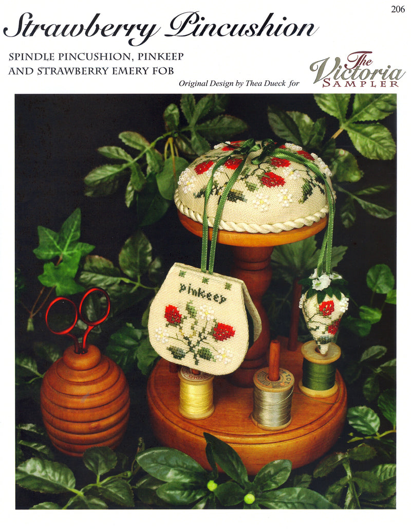 The Victoria Sampler - Strawberry Pincushion Leaflet  - needlework design company