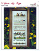 The Victoria Sampler - I Love My Dog Sampler Leaflet  - needlework design company
