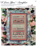 The Victoria Sampler - I Love You Sampler Leaflet  - needlework design company