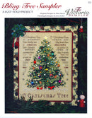 The Victoria Sampler - Bling Tree! Sampler Leaflet  - needlework design company