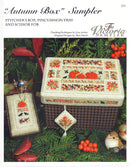 The Victoria Sampler - Autumn Box Leaflet  - needlework design company