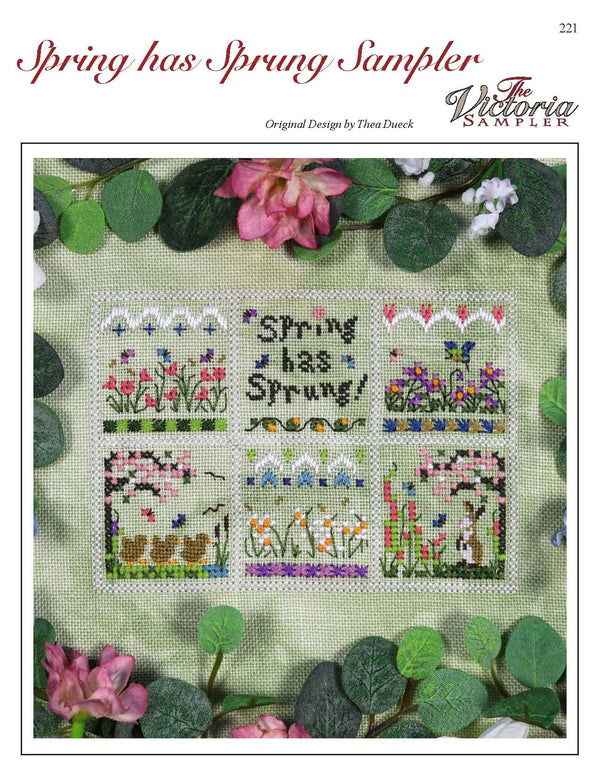 The Victoria Sampler - Spring has Sprung Sampler Leaflet  - needlework design company