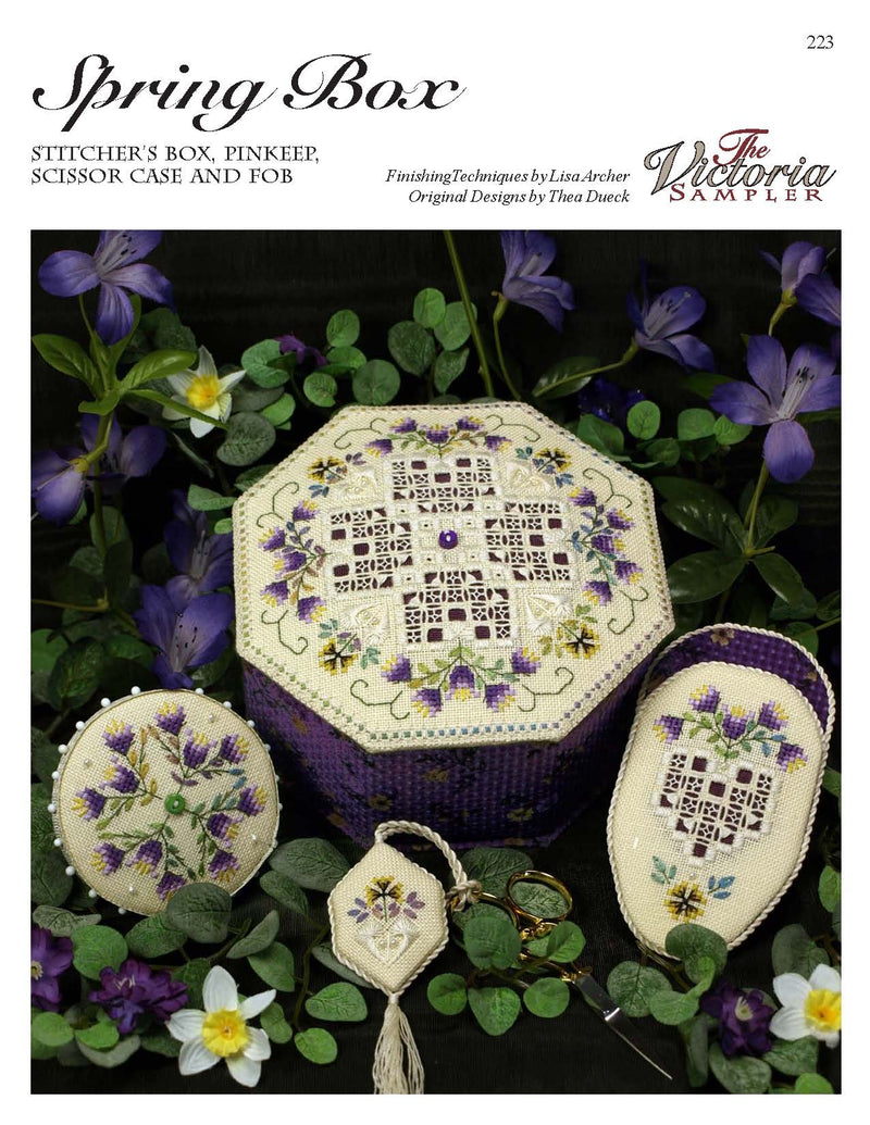 The Victoria Sampler - Spring Box Leaflet  - needlework design company