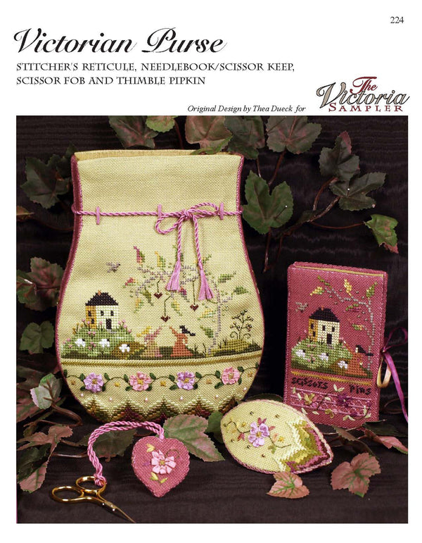 The Victoria Sampler - Victorian Purse Leaflet  - needlework design company