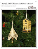 Merry Little House and Gold Tassel - Christmas Ornaments Leaflet