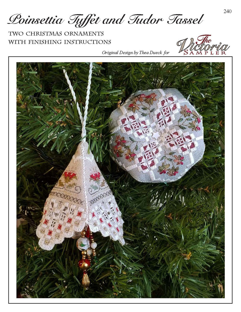 Poinsettia Tuffet and Tudor Tassel Ornaments Leaflet