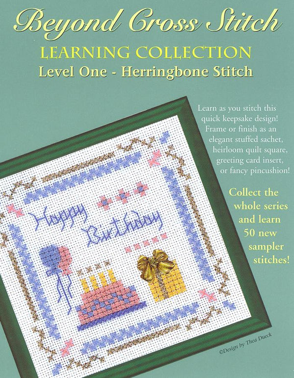 The Victoria Sampler - BCS 1-06 Happy Birthday Pattern (PDF Download)  - needlework design company