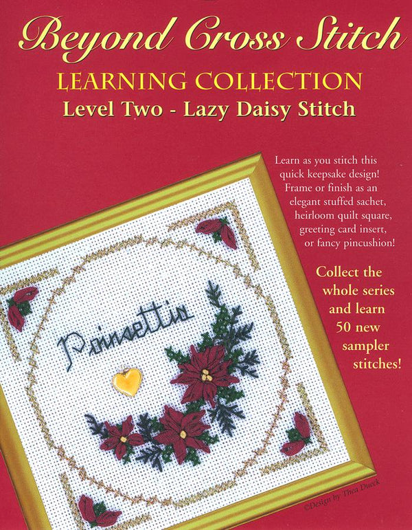 The Victoria Sampler - BCS 2-05 Poinsettia Pattern (PDF Download)  - needlework design company