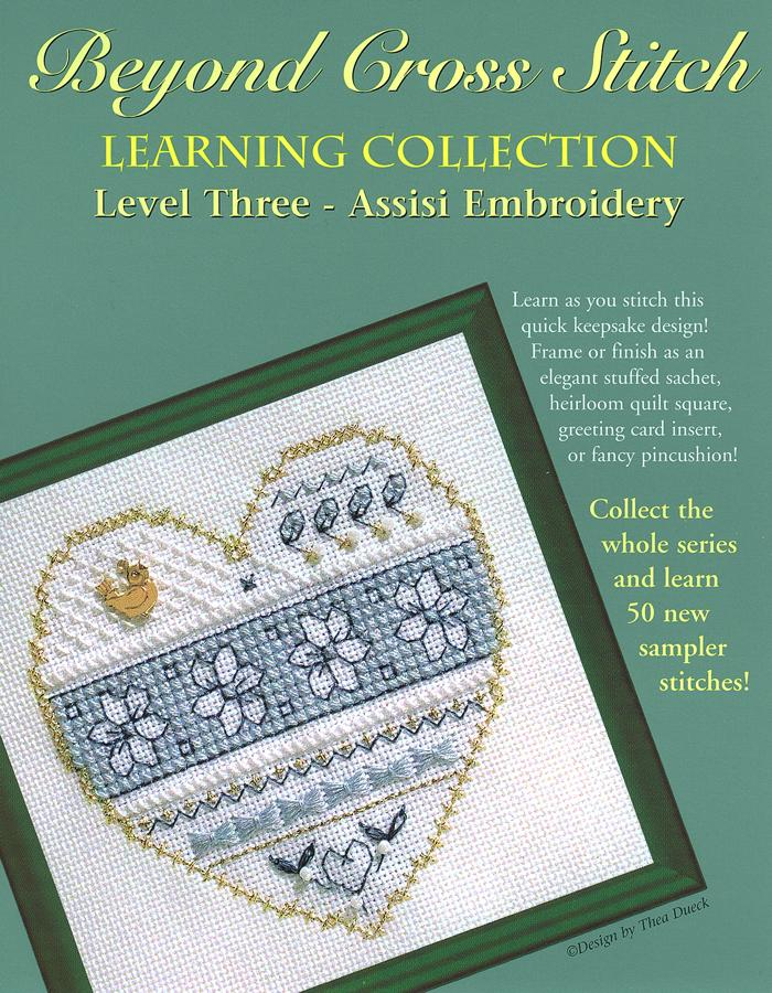 The Victoria Sampler - BCS 3-08 Blue and White Floral Student Kit  - needlework design company