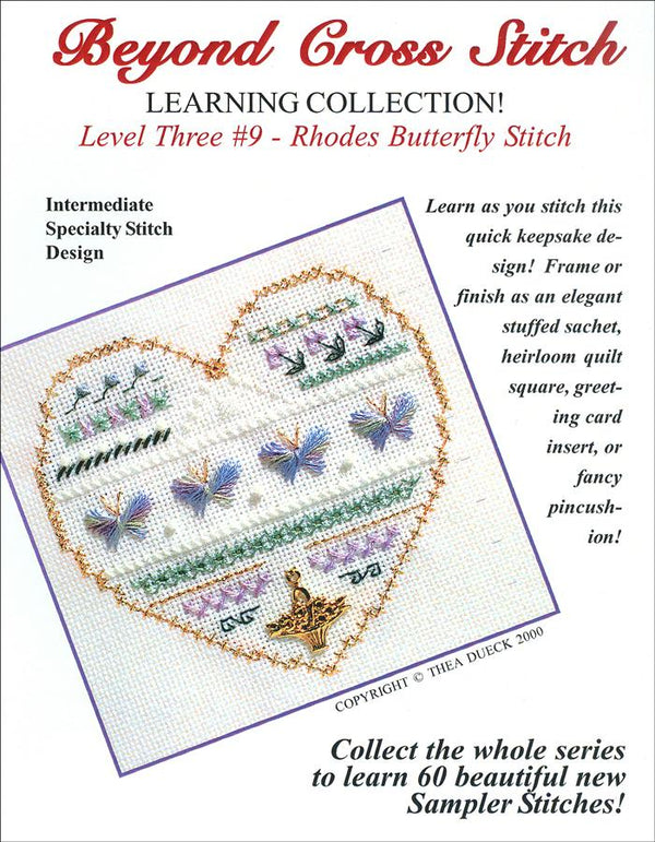 The Victoria Sampler - BCS 3-09 Butterflies Student Kit  - needlework design company