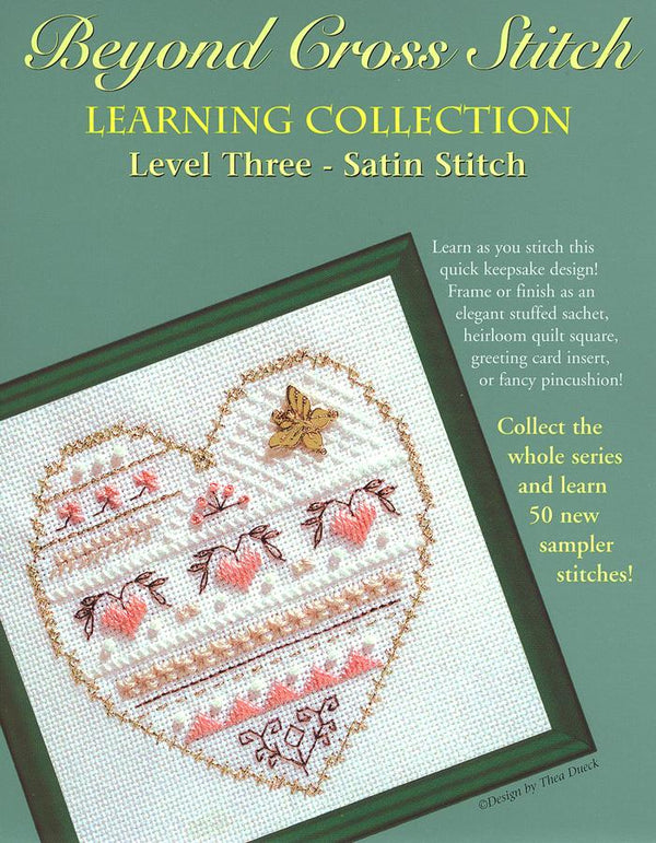 The Victoria Sampler - BCS 3-10 Satin Hearts Pattern (PDF Download)  - needlework design company