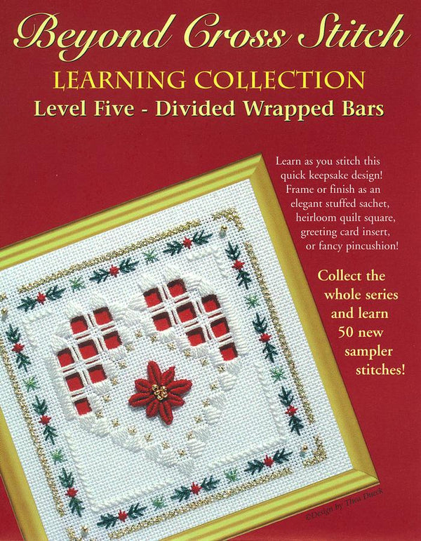 The Victoria Sampler - BCS 5-05 Poinsettia Heart Student Kit  - needlework design company