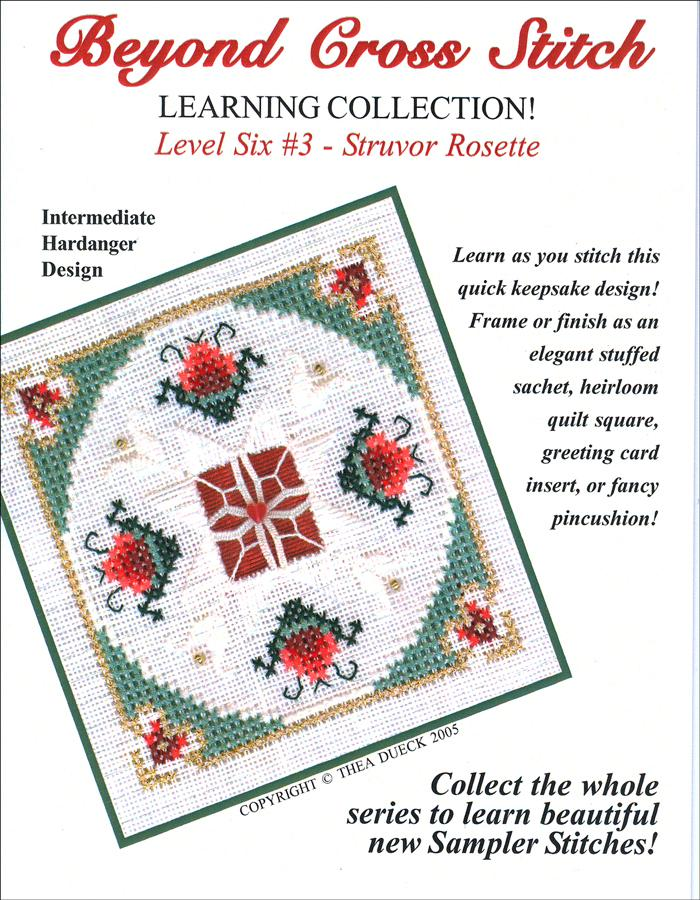 The Victoria Sampler - BCS 6-03 Pomegranate Wreath Student Kit  - needlework design company