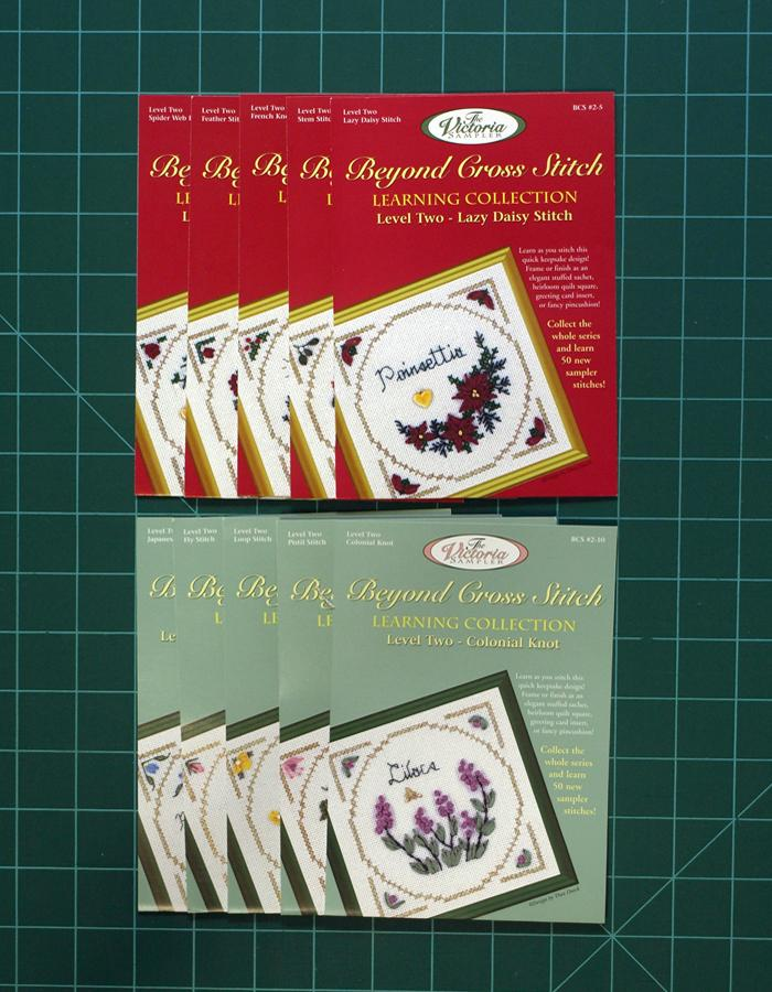 The Victoria Sampler - BCS Value Pack 02 - Level Two 10 Kits - Silk Ribbon Stitch Package (US$138.24 Value)  - needlework design company