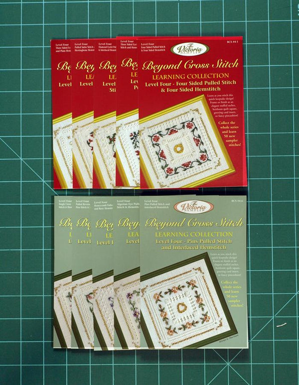 The Victoria Sampler - BCS Value Pack 04 - Level Four 10 Kits - Pulled Stitch and Hemstitching Package (US$118.88 Value) (S_NE)  - needlework design company