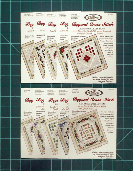 The Victoria Sampler - BCS Value Pack 05 - Level Five 10 Kits - Basic Hardanger Stitches Package (US$112.80 Value) (S_NE)  - needlework design company