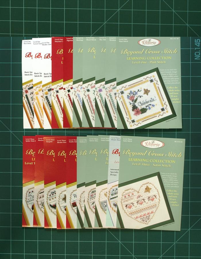 The Victoria Sampler - BCS Value Pack 07 - Levels One and Three 20 Kits - Surface Stitch Package (US$216.64 Value) (S_NE)  - needlework design company