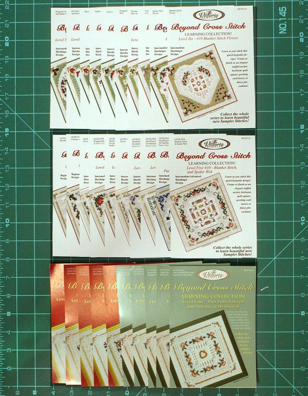 The Victoria Sampler - BCS Value Pack 10 - Levels Four, Five and Six 30 Kits - Pulled and Cut Work Package (US$361.44 Value) (S_NE)  - needlework design company