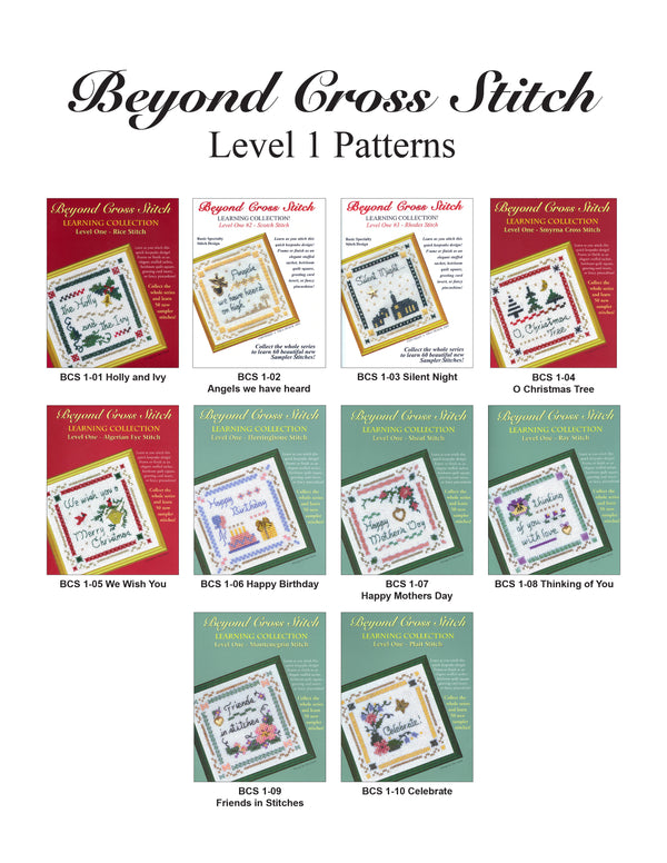 The Victoria Sampler - Beyond Cross Stitch Level 1 - All 10 Patterns (PDF Download) (US$24.90 Value)  - needlework design company