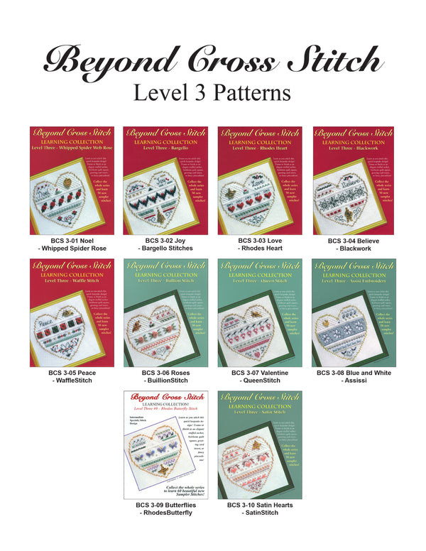 The Victoria Sampler - Beyond Cross Stitch Level 3 - All 10 Patterns (PDF Download) (US$24.90 Value)  - needlework design company